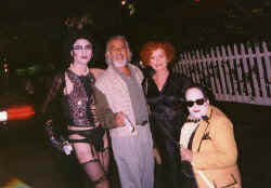 NYC Fran Perre Poley, Lou Adler, Patricia Quinn and Bill Brennan hanging out at the 20th Anny in parking lot.